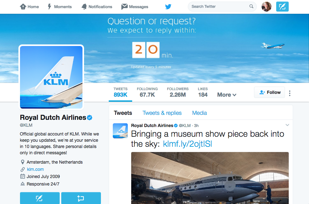 Royal Dutch Airlines' Twitter .png