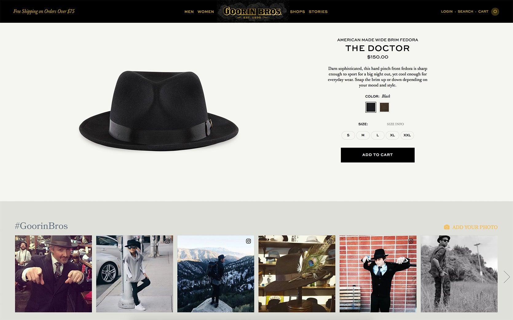 e2a918a5ada Goorin Bros. Use Customer Photos to Increase Online Sales